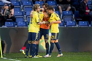 Kamil Wilczek, m�lscorer (Br�ndby IF), Teemu Pukki (Br�ndby IF), Andrew Hjulsager (Br�ndby IF)