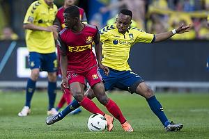 Lebogang Phiri (Br�ndby IF), Colins Tanor (FC Nordsj�lland)