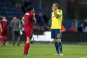 Martin Vingaard (FC Nordsj�lland), Daniel Agger, anf�rer (Br�ndby IF)