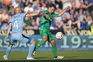 Daniel St�ckler (Br�ndby IF), Johnny Thomsen (Randers FC)
