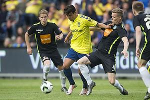 Daniel St�ckler (Br�ndby IF), Jacob Egeris (Viborg FF)