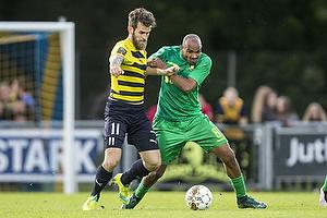 Rodolph William Austin (Br�ndby IF), Mads Jessen (Hobro IK)