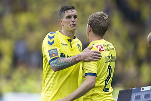 Daniel Agger, anf�rer (Br�ndby IF), Jesper Lindorff Juelsg�rd (Br�ndby IF)
