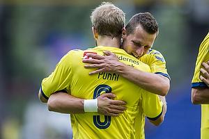 Kamil Wilczek (Br�ndby IF), Teemu Pukki, m�lscorer (Br�ndby IF)