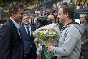 Troels Bech, sportsdirekt�r (Br�ndby IF), Alexander Zorniger, cheftr�ner (Br�ndby IF)