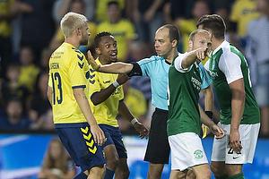 Johan Larsson (Br�ndby IF), Lebogang Phiri (Br�ndby IF)