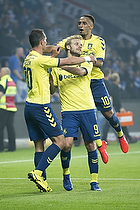 Teemu Pukki (Br�ndby IF), Kamil Wilczek (Br�ndby IF), Hany Mukhtar (Br�ndby IF)