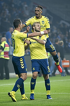 Teemu Pukki (Br�ndby IF), Hany Mukhtar (Br�ndby IF), Kamil Wilczek (Br�ndby IF)