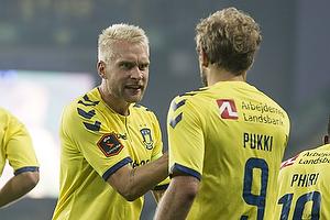 Johan Larsson (Br�ndby IF), Teemu Pukki (Br�ndby IF)