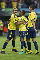 Teemu Pukki (Br�ndby IF), Lebogang Phiri (Br�ndby IF), Kamil Wilczek (Br�ndby IF)