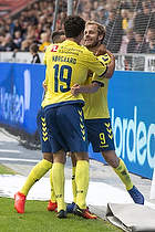 Teemu Pukki, m�lscorer (Br�ndby IF), Christian N�rgaard (Br�ndby IF)
