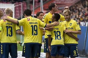 Teemu Pukki, m�lscorer (Br�ndby IF), Benedikt R�cker (Br�ndby IF), Lebogang Phiri (Br�ndby IF), Christian N�rgaard (Br�ndby IF)