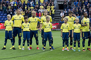 Kamil Wilczek (Br�ndby IF), Hany Mukhtar (Br�ndby IF), Teemu Pukki (Br�ndby IF), Andrew Hjulsager (Br�ndby IF)