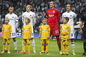Peter Ankersen (FC K�benhavn), Ludwig Augustinsson (FC K�benhavn), Robin Olsen (FC K�benhavn), Thomas Delaney, anf�rer (FC K�benhavn)