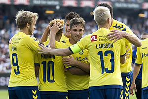 Teemu Pukki (Br�ndby IF), Hany Mukhtar (Br�ndby IF), Andrew Hjulsager (Br�ndby IF), Johan Larsson, anf�rer (Br�ndby IF)