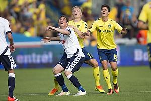 Morten Duncan Rasmussen (Agf), Hj�rtur Hermannsson (Br�ndby IF), Christian N�rgaard (Br�ndby IF)