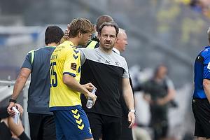 Alexander Zorniger, cheftr�ner (Br�ndby IF), Christian Jakobsen (Br�ndby IF)