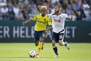 Hany Mukhtar (Br�ndby IF), Martin Spelmann (Agf)