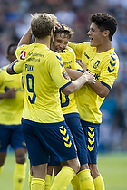 Andrew Hjulsager, m�lscorer (Br�ndby IF), Hany Mukhtar (Br�ndby IF), Christian N�rgaard (Br�ndby IF), Teemu Pukki (Br�ndby IF)