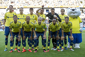 Benedikt R�cker (Br�ndby IF), Hj�rtur Hermannsson (Br�ndby IF), Christian N�rgaard (Br�ndby IF), Kamil Wilczek (Br�ndby IF), Mads Toppel (Br�ndby IF), Teemu Pukki (Br�ndby IF), Frederik Holst (Br�ndby IF), Hany Mukhtar (Br�ndby IF), Johan Larsson, anf�rer (Br�ndby IF), Lebogang Phiri (Br�ndby IF), Andrew Hjulsager (Br�ndby IF)