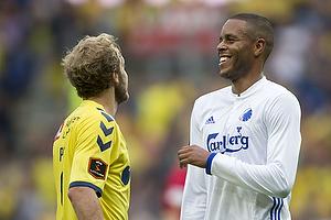 Teemu Pukki (Br�ndby IF), Mathias Zanka J�rgensen (FC K�benhavn)