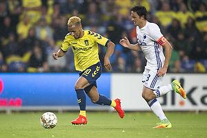 Andrew Hjulsager (Br�ndby IF), Thomas Delaney, anf�rer (FC K�benhavn)