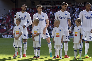 Youssef Toutouh (FC K�benhavn), William Kvist (FC K�benhavn), Andrija Pavlovic (FC K�benhavn)