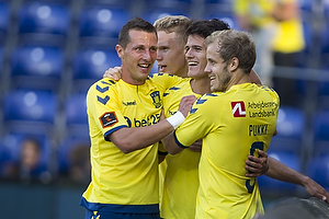 Kamil Wilczek (Br�ndby IF), Christian N�rgaard (Br�ndby IF), Teemu Pukki (Br�ndby IF)