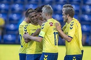 Hany Mukhtar (Br�ndby IF), Johan Larsson (Br�ndby IF), Teemu Pukki (Br�ndby IF)