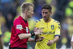 Frederik Holst (Br�ndby IF), J�rgen Daugbjerg Burchardt, dommer