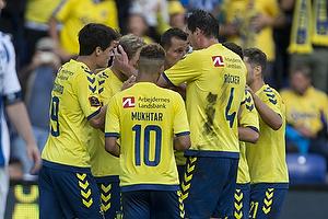 Hany Mukhtar (Br�ndby IF), Christian N�rgaard (Br�ndby IF), Teemu Pukki, m�lscorer (Br�ndby IF)