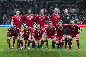 Pierre Emilie H�jbjerg (Danmark), Mathias Zanka J�rgensen (Danmark), Yussuf Poulsen (Danmark), Simon Kj�r (Danmark), Kasper Schmeichel (Danmark), Riza Durmisi (Danmark), Thomas Delaney (Danmark), Peter Ankersen (Danmark), Christian Eriksen (Danmark), Nicklas Bendtner (Danmark)