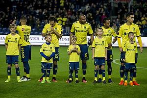 Magnus Eriksson (Br�ndby IF), Marco Danilo Ure�a (Br�ndby IF), Rodolph William Austin (Br�ndby IF), Lebogang Phiri (Br�ndby IF), Svenn Crone (Br�ndby IF)
