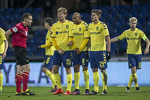 Mads-Kristoffer Kristoffersen, dommer, Christian Jakobsen (Br�ndby IF), Rodolph William Austin (Br�ndby IF), Jan Kliment (Br�ndby IF)