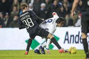 Nicolai Poulsen (Randers FC), Thomas Delaney, anf�rer (FC K�benhavn)