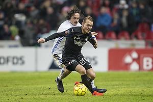 Thomas Delaney, anf�rer (FC K�benhavn), Joel Allansson (Randers FC)