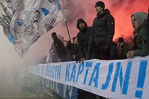 Banner fra FCK-fansne til Thomas Delaney (FC K�benhavn)