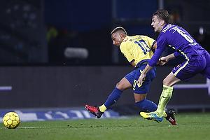 Hany Mukhtar (Br�ndby IF), Markus Halsti (FC Midtjylland)