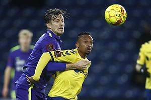 Lebogang Phiri (Br�ndby IF), Markus Halsti (FC Midtjylland)