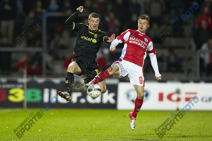 Mikkel Thygesen (Br�ndby IF) ,Marvin Pouri� (Silkeborg IF)
