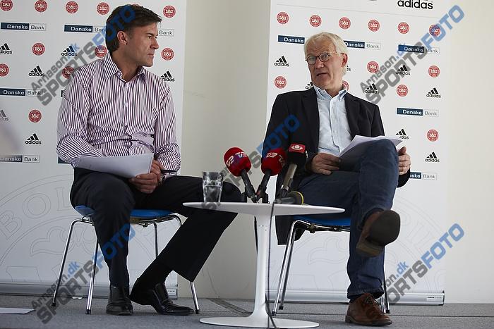 Lars Berendt, kommunikationschef (DBU), Morten Olsen, cheftr�ner (Danmark)