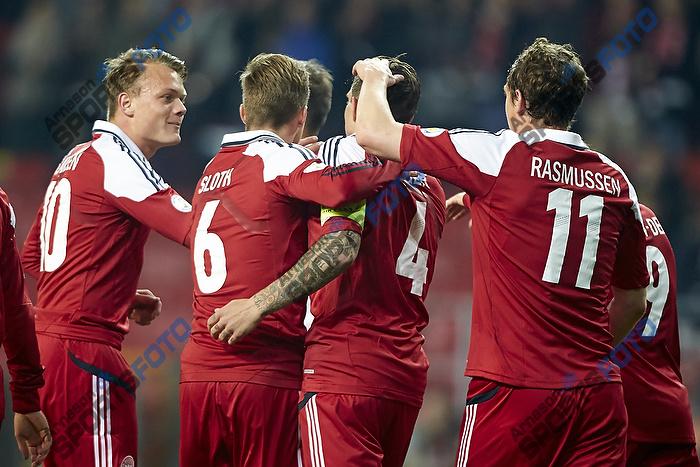 Daniel Agger, m�lscorer (Danmark), Casper Sloth (Danmark), Emil Larsen (Danmark), Morten Duncan Rasmussen (Danmark)