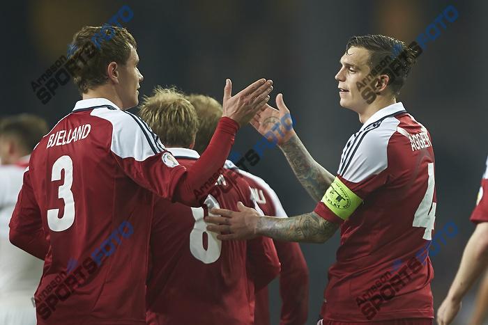 Daniel Agger, m�lscorer (Danmark), Andreas Bjelland (Danmark)
