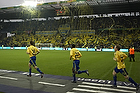 Tifo p� Sydsiden, Thomas Rasmussen (Br�ndby IF), Ousman Jallow (Br�ndby IF), Michael KrohnDehli (Br�ndby IF)