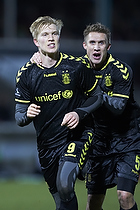 Simon Makienok Christoffersen, m�lscorer (Br�ndby IF), Martin Albrechtsen (Br�ndby IF)
