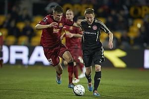 Pascal Gregor (FC Nordsj�lland), Jeppe Curth (Aab)
