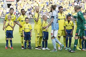 Andrew Hjulsager (Br�ndby IF), Lebogang Phiri (Br�ndby IF), Johan Larsson (Br�ndby IF), Pierre Kanstrup (S�nderjyskE), Martin Skender (S�nderjyskE)