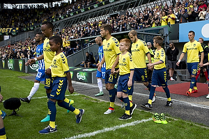 Lebogang Phiri (Br�ndby IF), Andrew Hjulsager (Br�ndby IF), Teemu Pukki (Br�ndby IF)