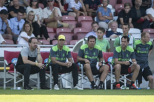 Alexander Zorniger, cheftr�ner (Br�ndby IF), Tam�s B�dog (Br�ndby IF), Mark Strudal, angrebstr�ner (Br�ndby IF)
