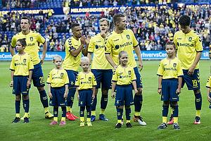 Kamil Wilczek (Br�ndby IF), Lebogang Phiri (Br�ndby IF), Teemu Pukki (Br�ndby IF), Martin Albrechtsen (Br�ndby IF), Christian N�rgaard (Br�ndby IF)